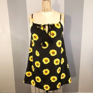 🌻Women's vintage sunflower 🌻 dress size small 🌻